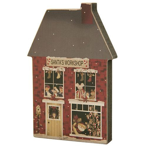 Santa's Workshop Wooden House Decoration