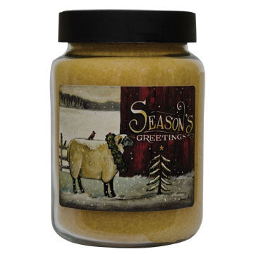 Large Seasons Greetings Cinnamon Sticks Candle