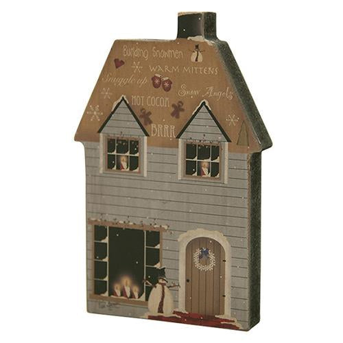 Wooden Snowman House Decoration