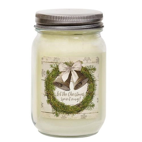 Christmas Spirit Snowberry Mason Jar Candle