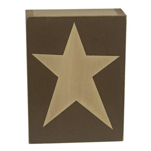 Country Star Wooden Block