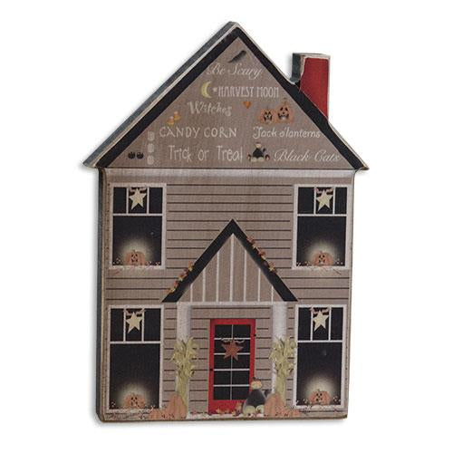 Wooden Halloween Trick or Treat House Decoration
