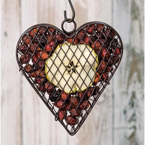 Wire Mesh Heart with Apple Potpourri