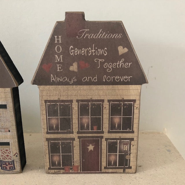 Wooden Family House Decoration