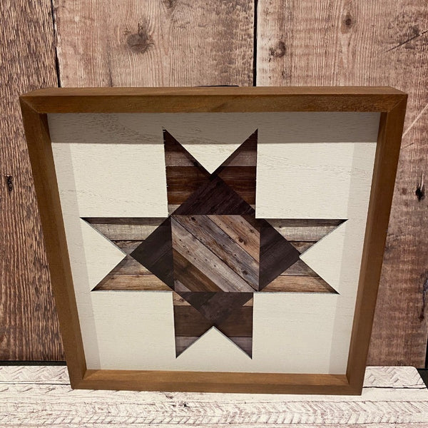 Framed Barn Wood Quilt Star
