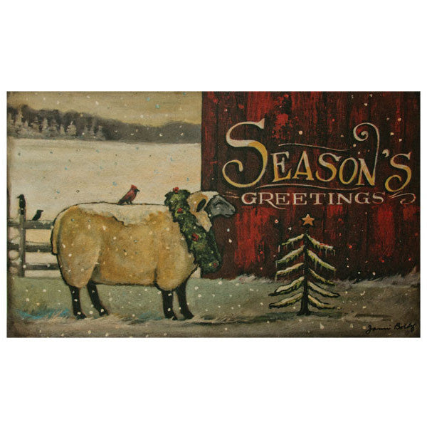 Seasons Greetings Floor Mat