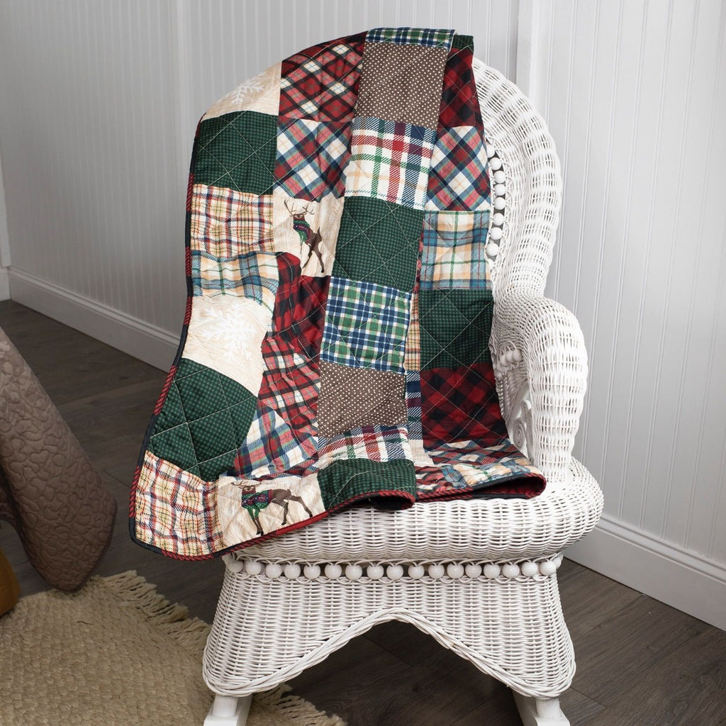 Snow Day Quilted Throw UK