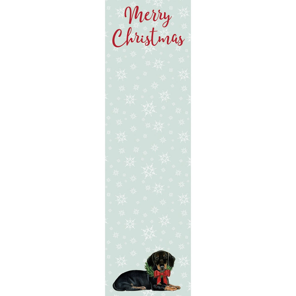 Merry Christmas Dachshund Magnetic Notepad
