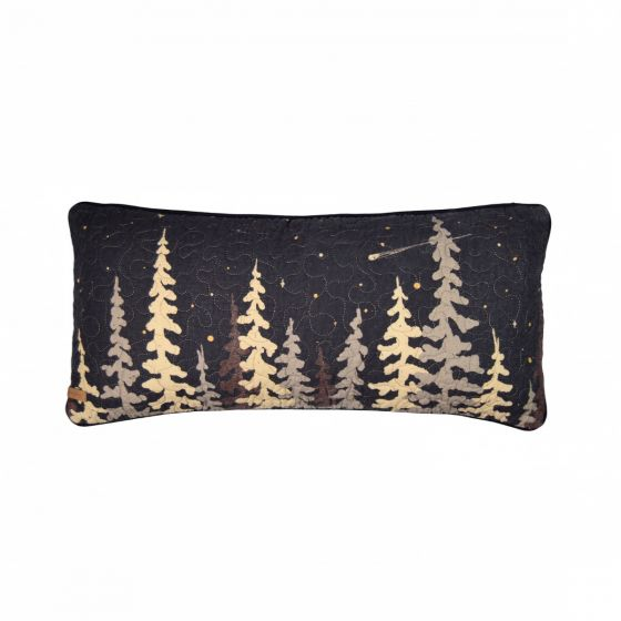 Moonlit Cabin Oblong Cushion with Trees