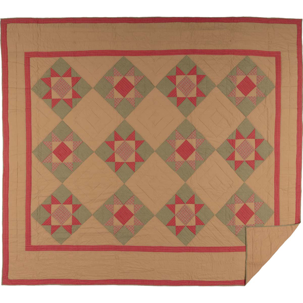 Dolly Star King Patchwork Quilt