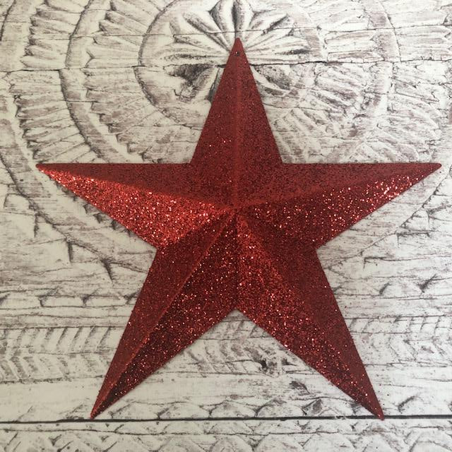 Dorothy's Red Glittery Barn Star