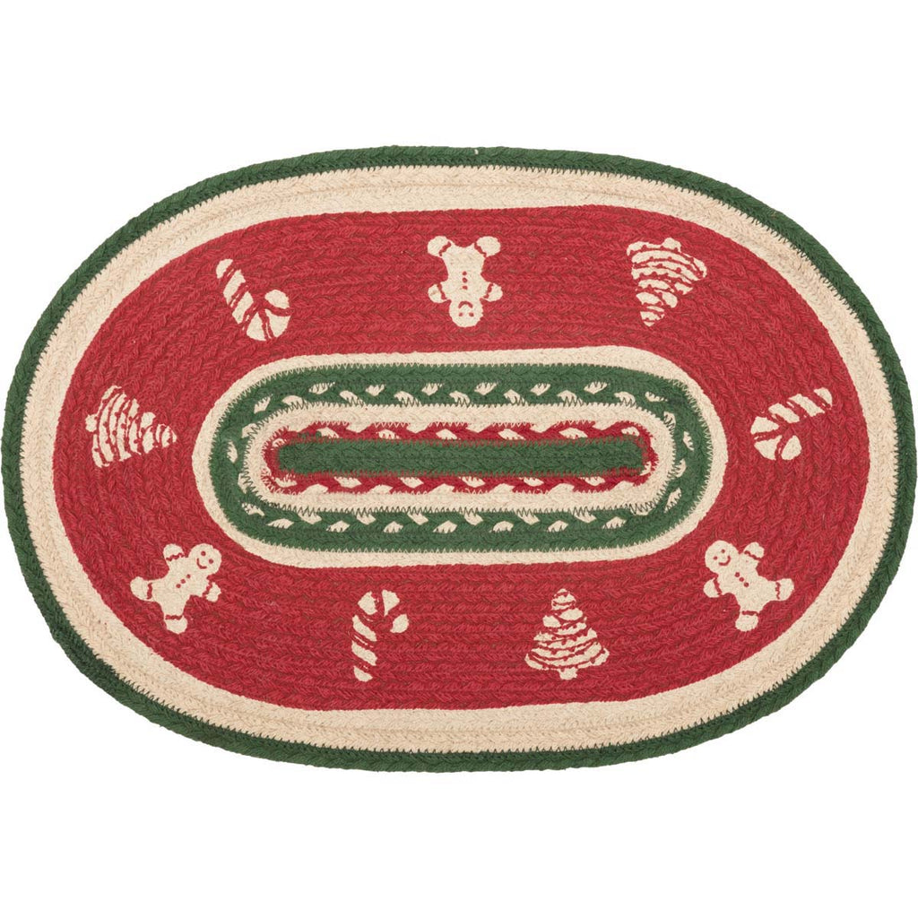 Christmas Cookies Braided Table Mat