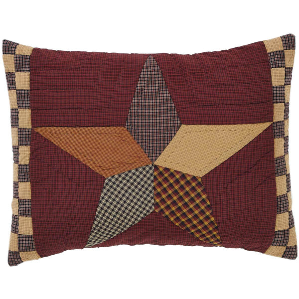 Folkways Star Quilted Pillowcase Sham