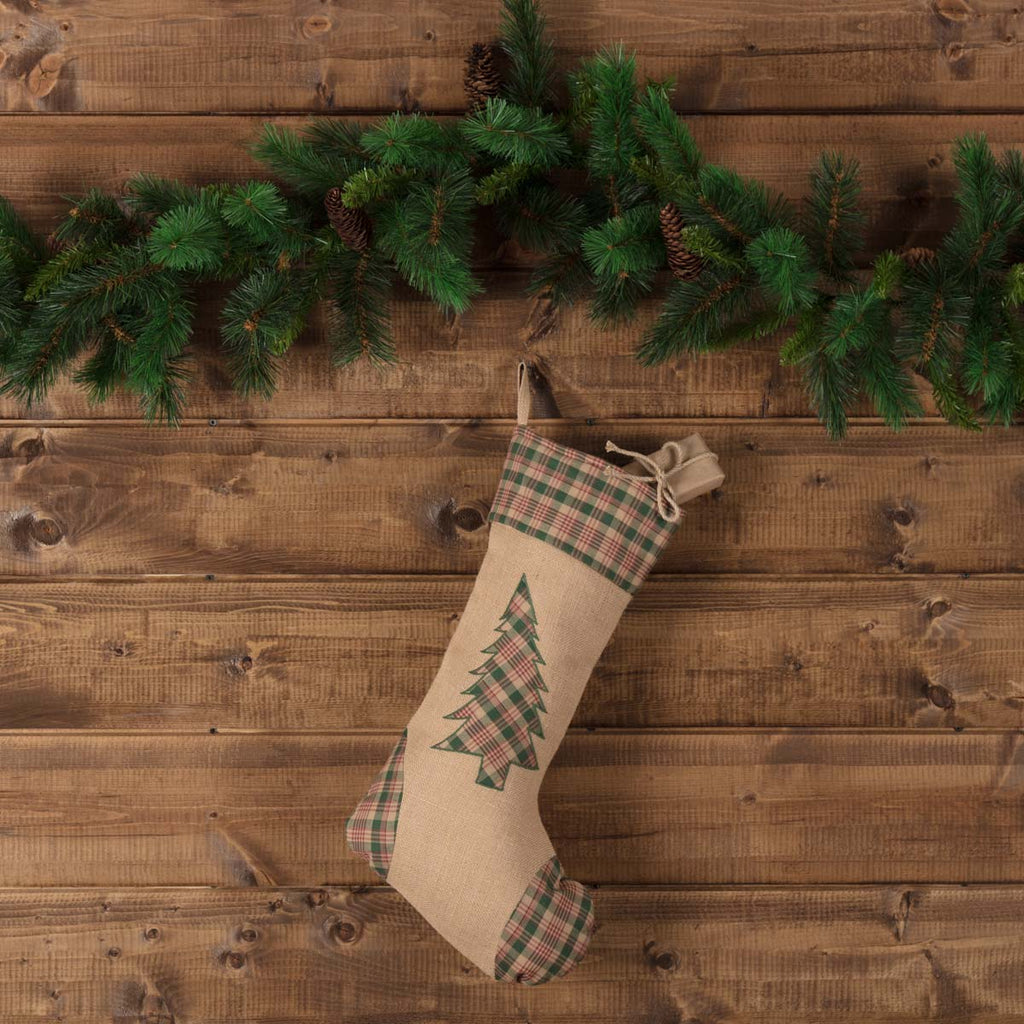 Clement Tree Applique Christmas Stocking