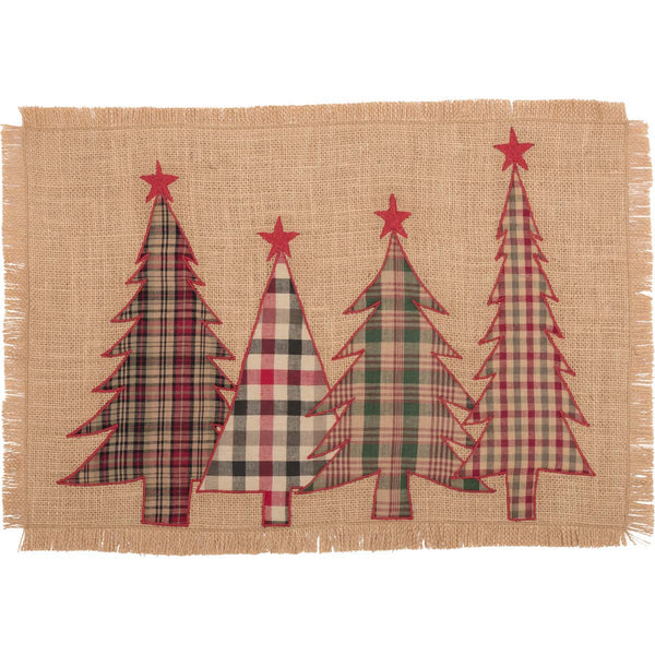 Clement Applique Christmas Tree Table Mat