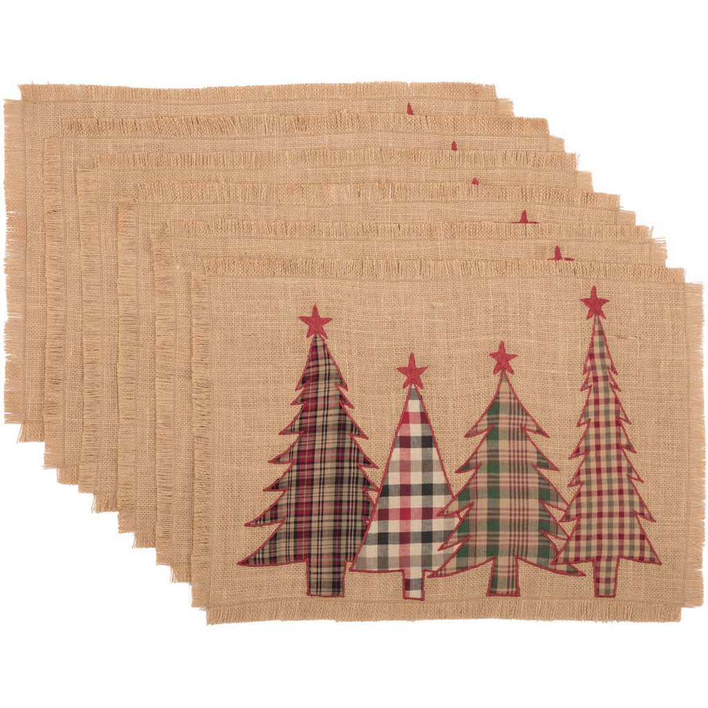 Christmas Tree Applique Tablemats UK