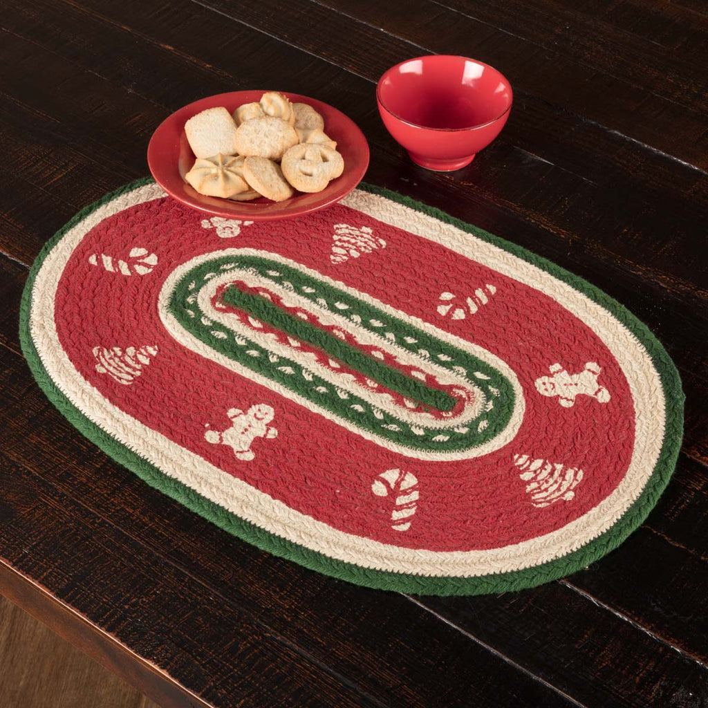 Christmas Cookies Braided Placemat