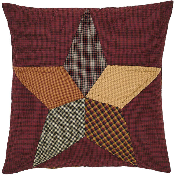 Folkways Star Quilted Square Euro Cushion