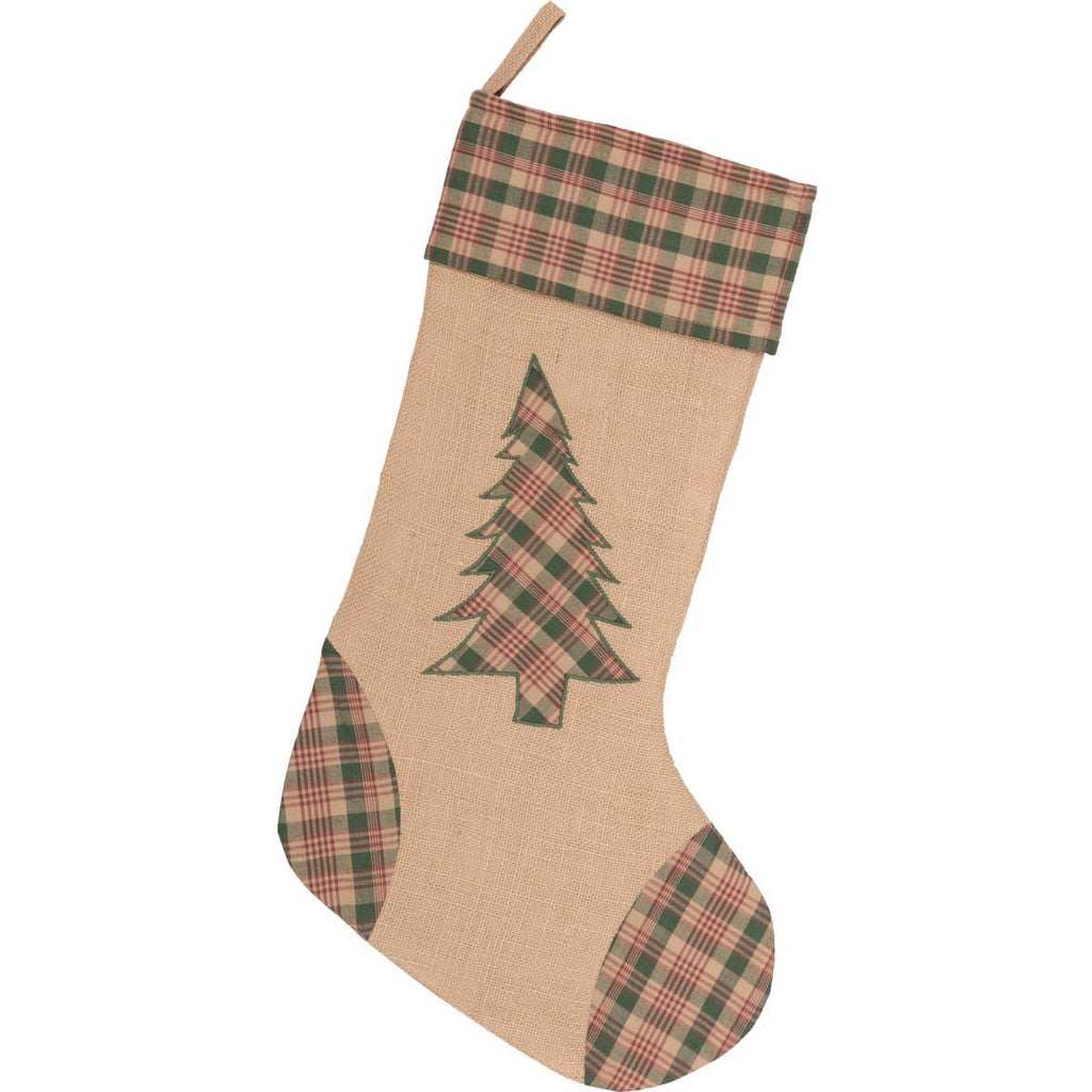 Clement Tree Applique Christmas Stocking UK
