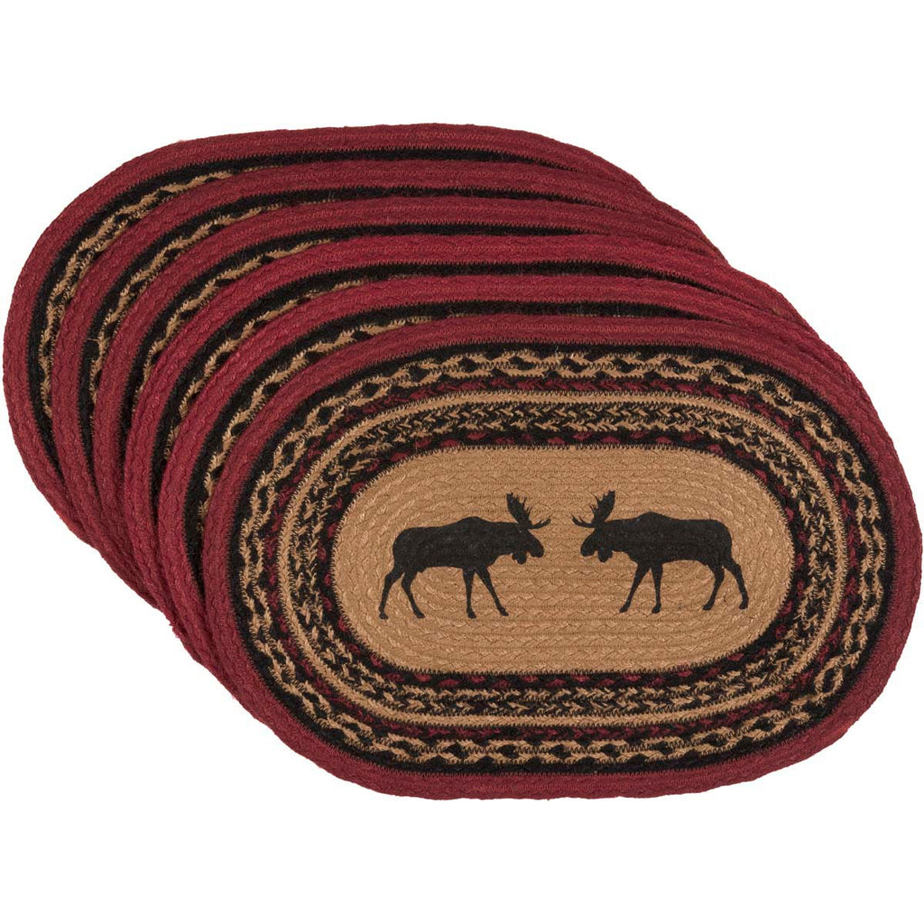 Moose Log Cabin Style Tablemats