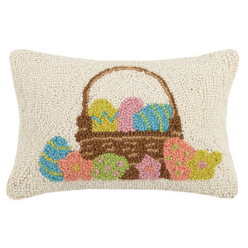 Easter Basket Hooked Cushion