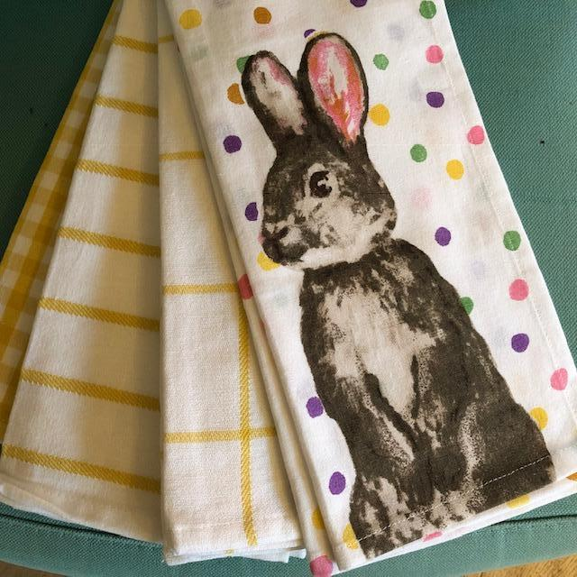Easter Bunny Tea Towel Set