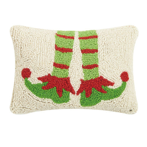 Hooked Wool Elf Cushion with Velvet Back