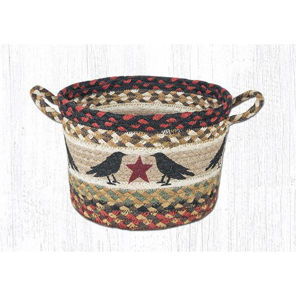 Medium Crow and Star Braided Basket