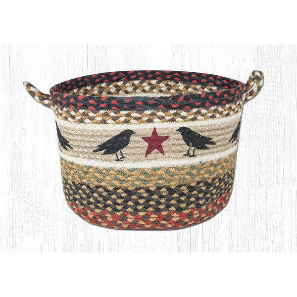 Large Crow and Star Braided Basket