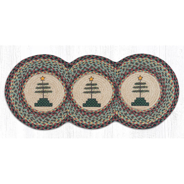 Feather Tree Braided Circles Runner