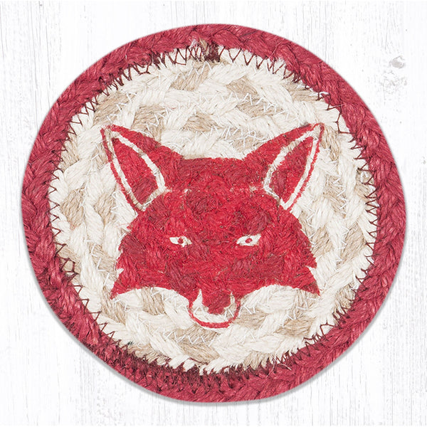 Fox Braided Jute Coaster