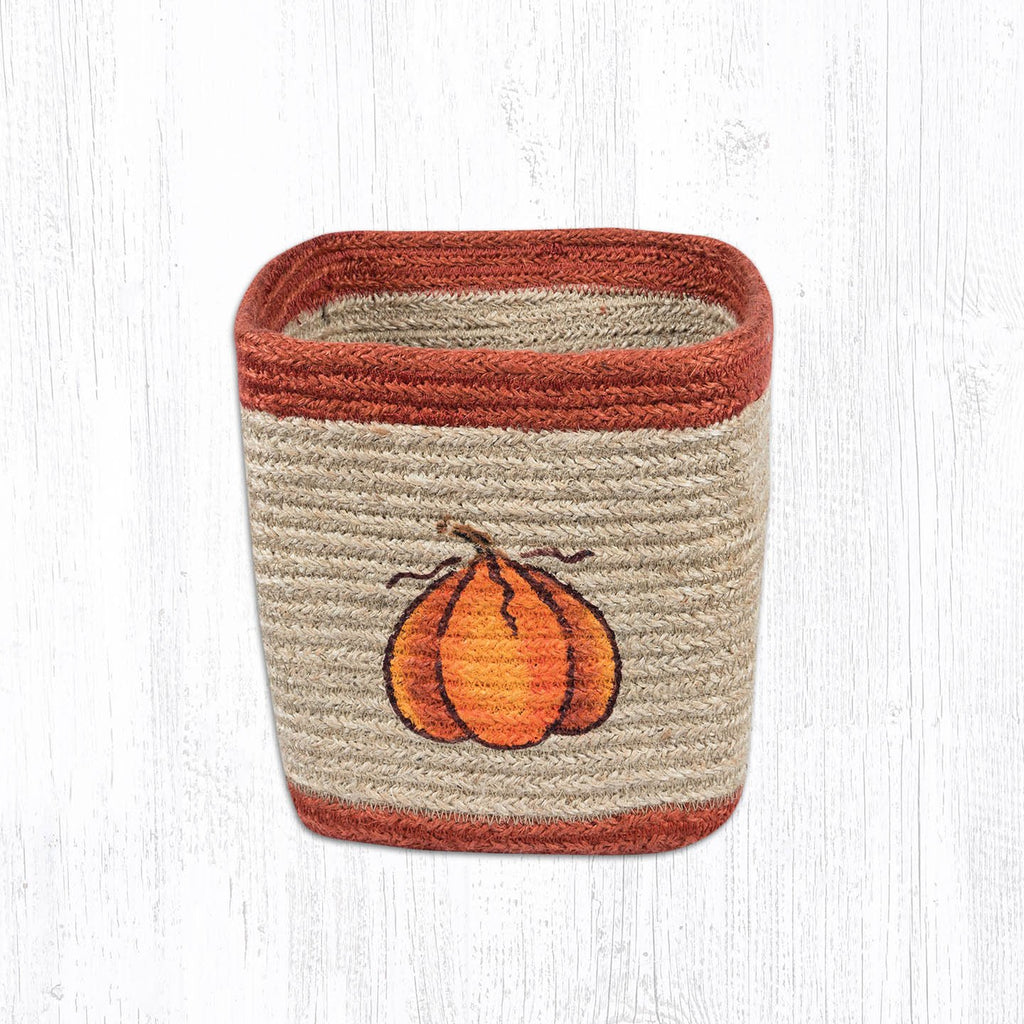 Small Square Braided Harvest Pumpkin Basket