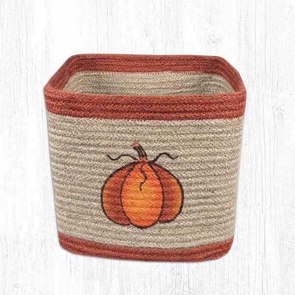 Medium Square Braided Harvest Pumpkin Basket