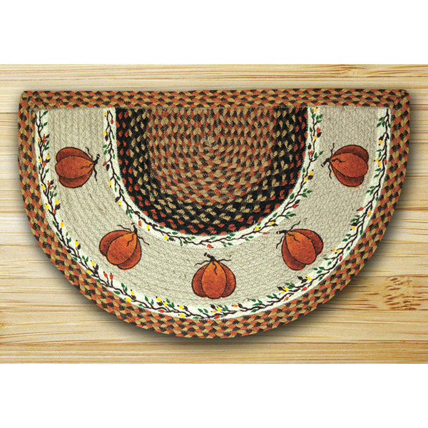 Harvest Pumpkin Half Circle Rug