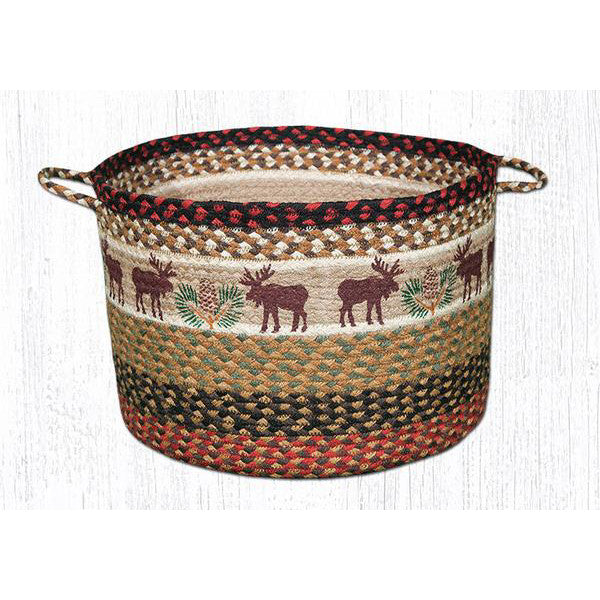 XL Moose and Pinecones Utility Basket
