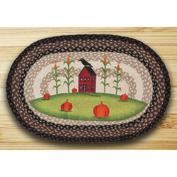 Saltbox Pumpkin Patch Braided Rug