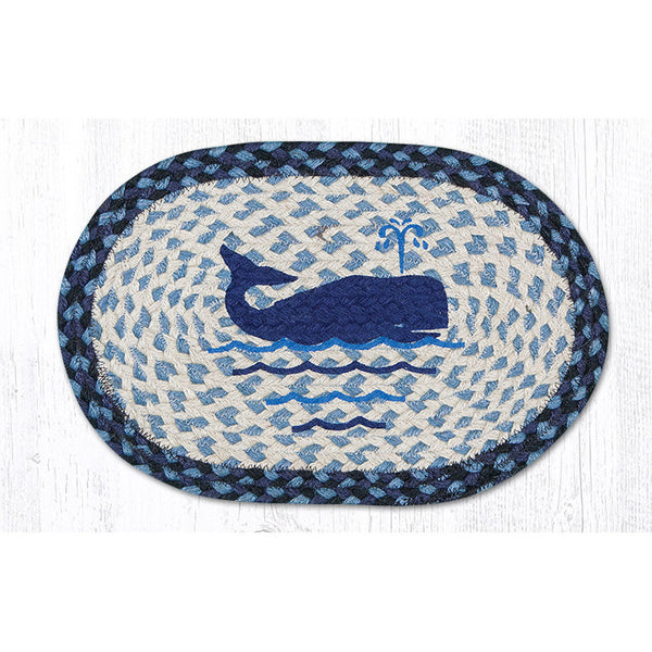 Whale Jute Braided Table Mat