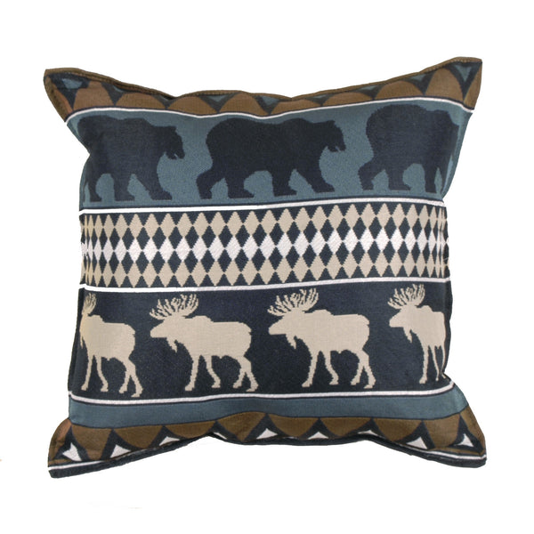 Moose and Bears Outdoor Cushion