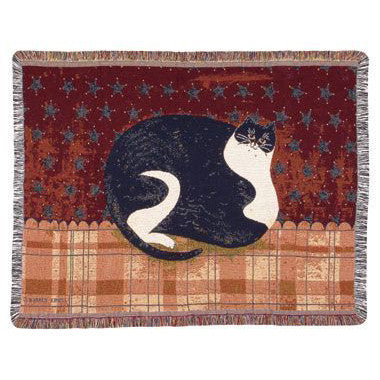 Warren Kimble Fat Cat Woven Throw