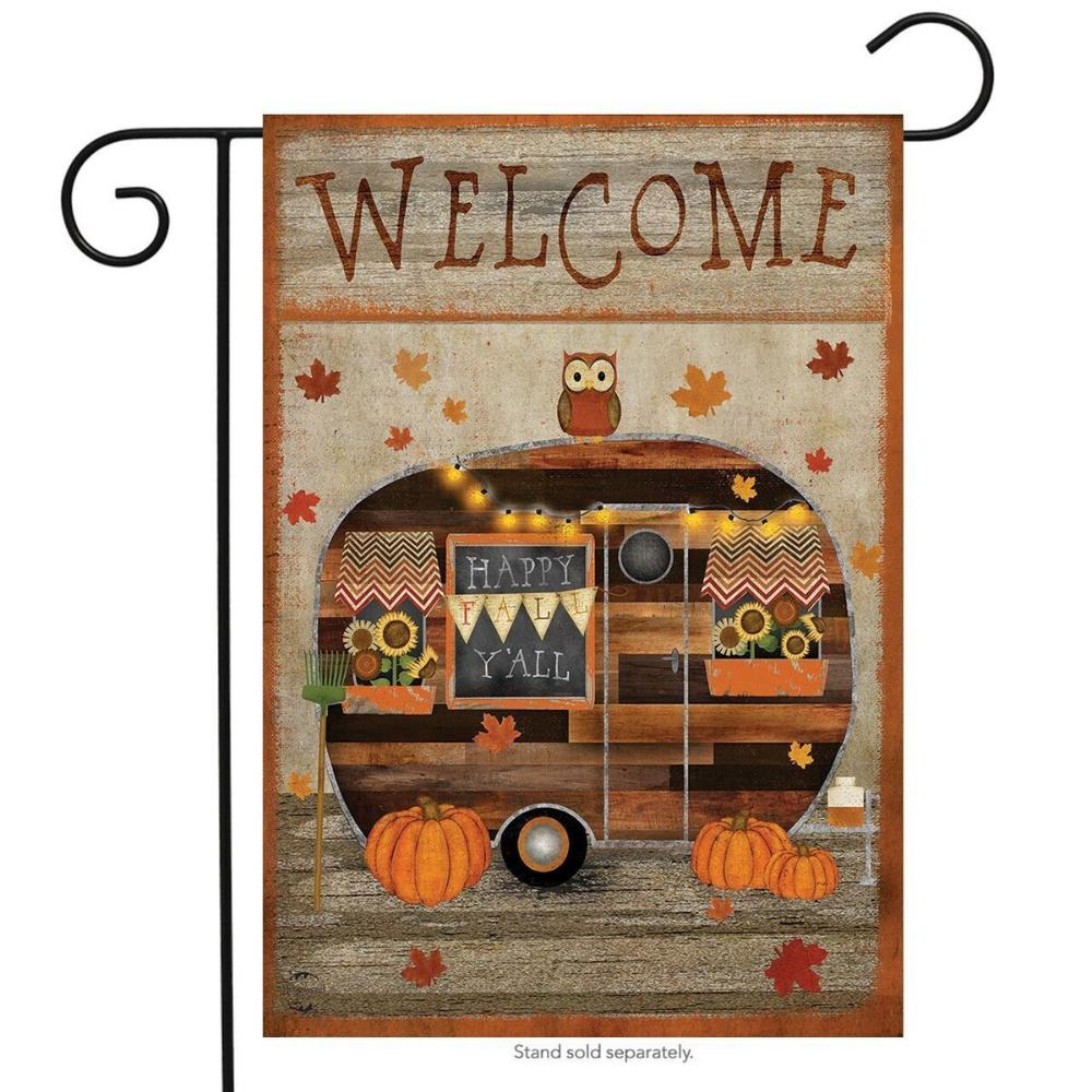 Welcome Fall Camper Garden Flag