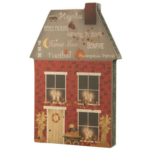 Fall Wooden House Decoration
