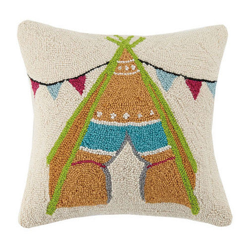 Festival Tent Hooked Cushion
