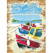 Fishing Boats Refillable Magnetic Notepad