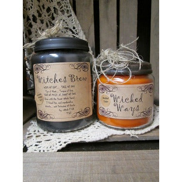 Witches Brew Halloween Apothecary Candle