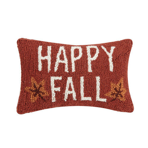 Happy Fall Hooked Cushion