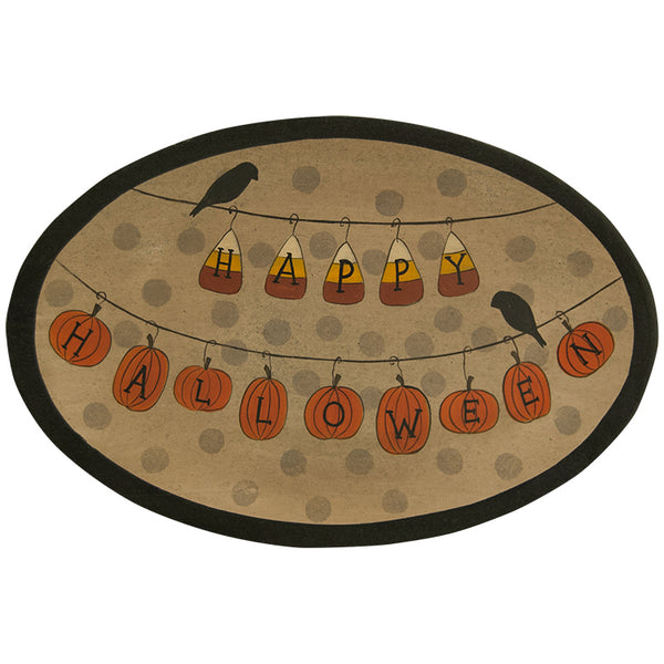 Happy Halloween Wooden Tray