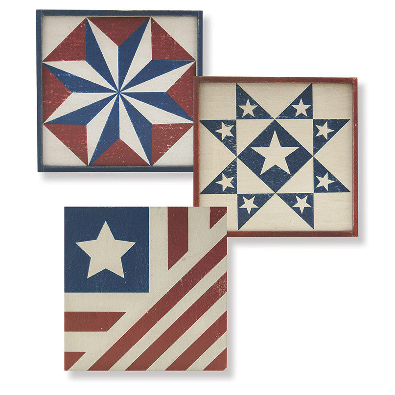Americana Wooden Box Signs