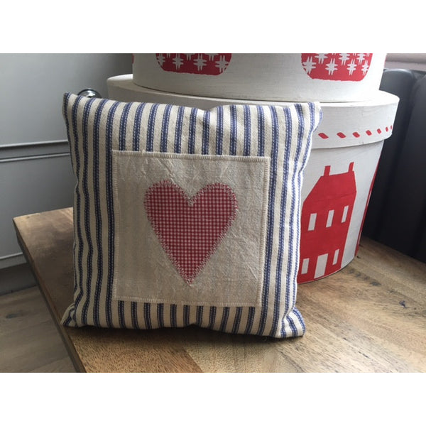 Little Heart Applique Cushion