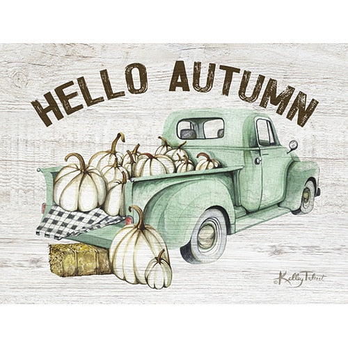 Hello Autumn Wooden Block Sign