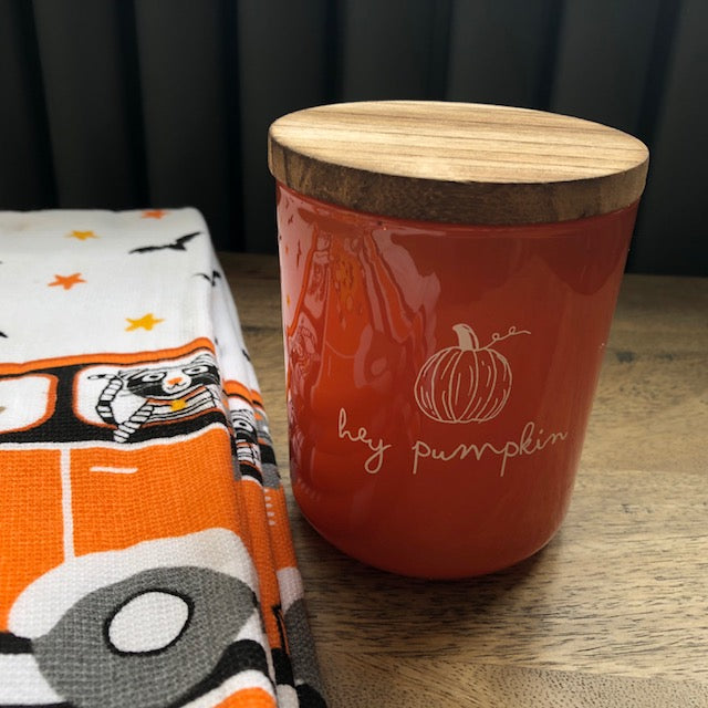Hey Pumpkin Spice Candle with Wooden Lid